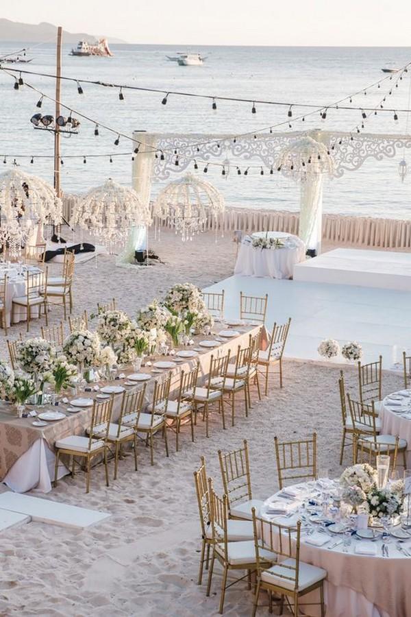 beach side wedding reception decorations