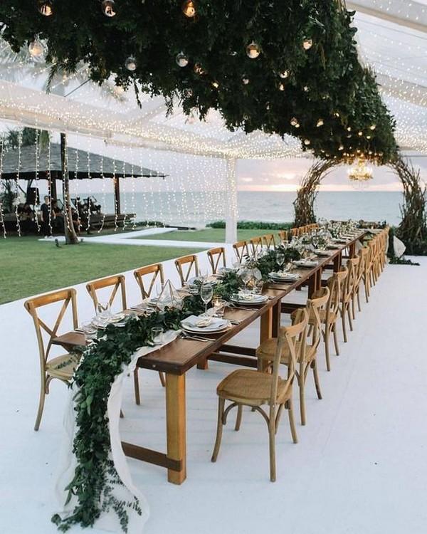 beach wedding reception ideas with string lights