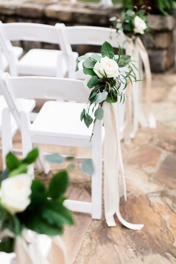blush and greenery outdoor wedding aisle ideas
