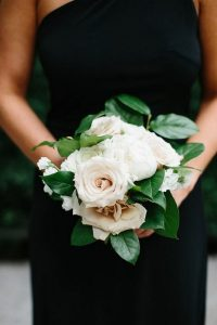 blush and greenery small wedding bouquet