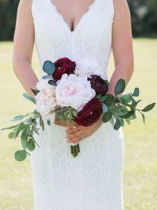 blush and marsala small wedding bouquet