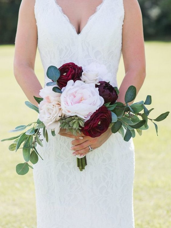blush and marsala small wedding bouquet