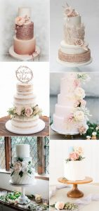 blush pink wedding cakes for spring and summer weddings