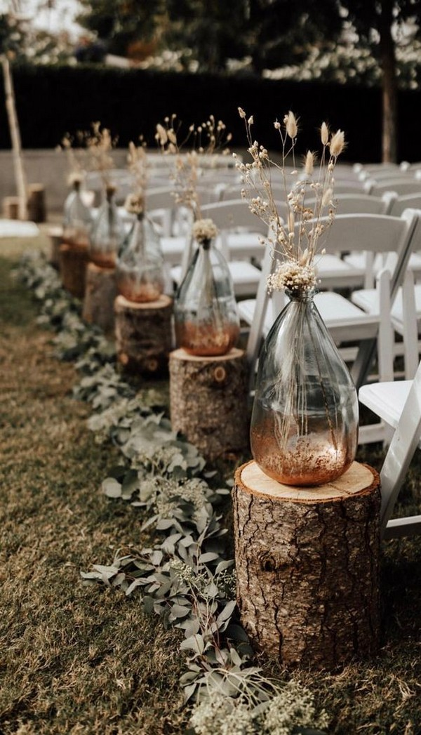 32 Inspirational Outdoor Wedding Aisle Decoration Ideas