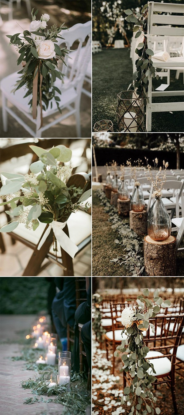 boho chic wedding aisle decoration ideas