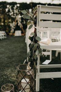 boho sage green wedding aisle ideas with candles