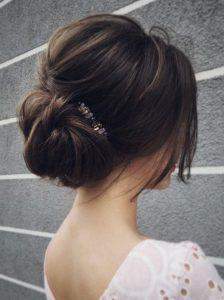 bridal wedding hairstyle updo