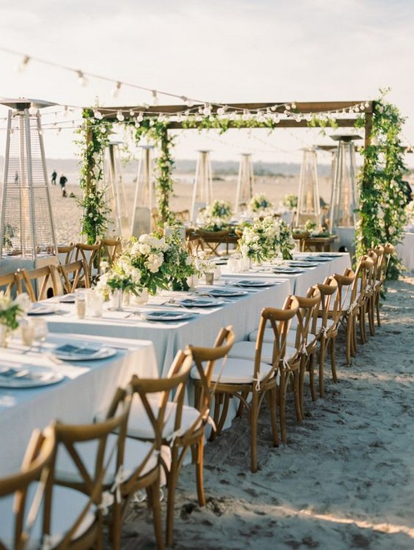 chic beach wedding reception decoration ideas