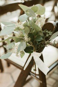 chic eucalyptus wedding aisle decoration ideas