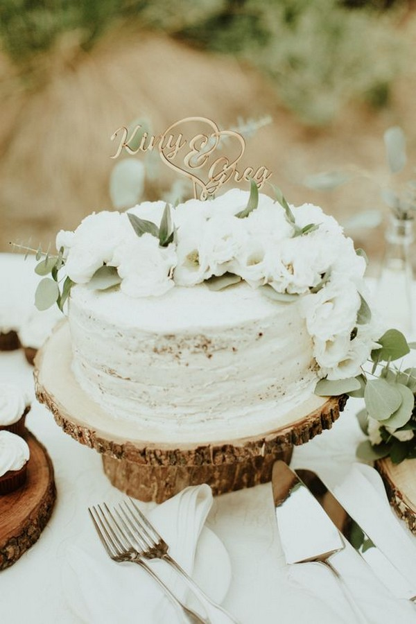 chic one tier wedding cake ideas