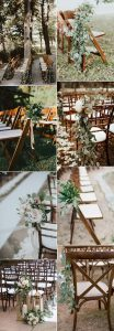 chic outdoor wedding aisle decoration ideas with greenery