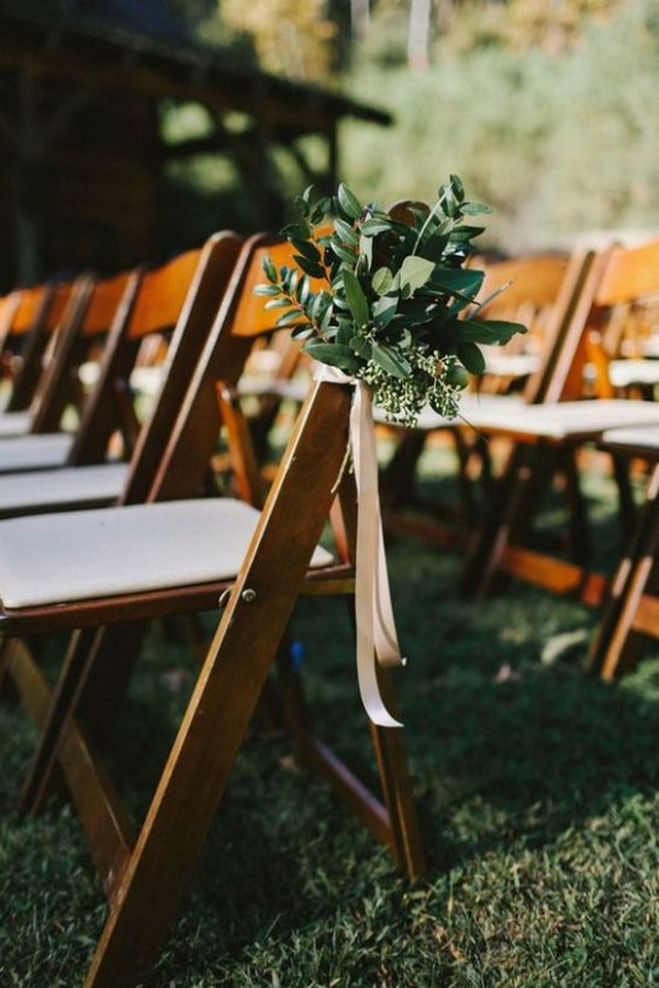 chic outdoor wedding aisle decoration ideas