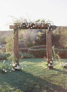 chic rustic wedding arch ideas