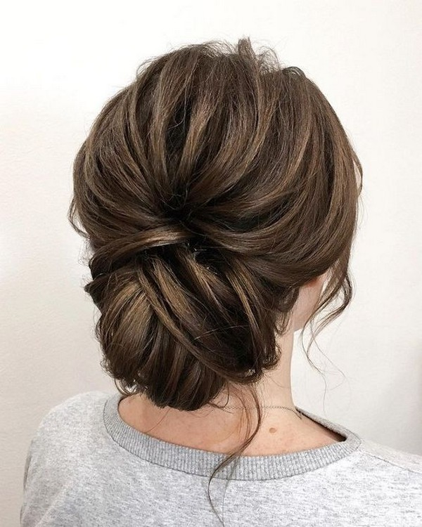 chic updo wedding hairstyle ideas