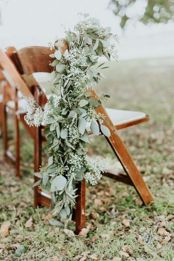 chic vineyard wedding aisle decoration ideas