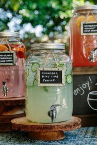 diy self serve drink bar for outdoor wedding ideas