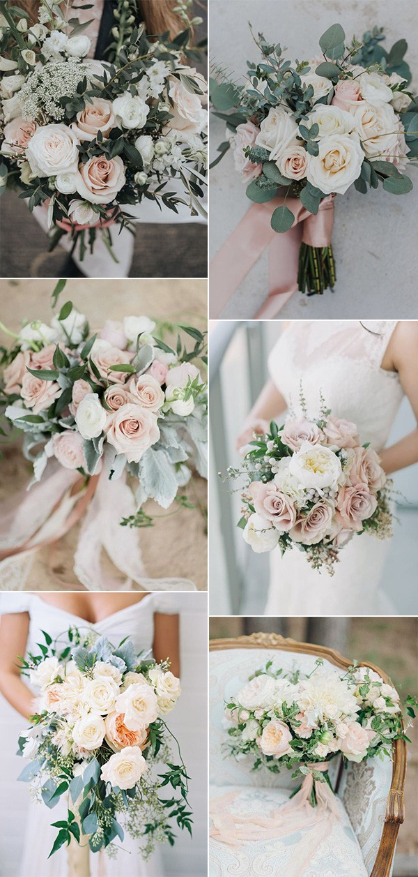 elegant blush pink wedding bouquets for 2019