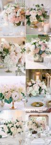 elegant blush pink wedding centerpieces