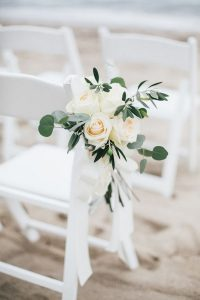 elegant blush wedding aisle chair decoration ideas