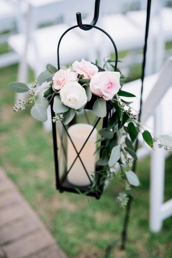 elegant lantern wedding aisle decoration ideas