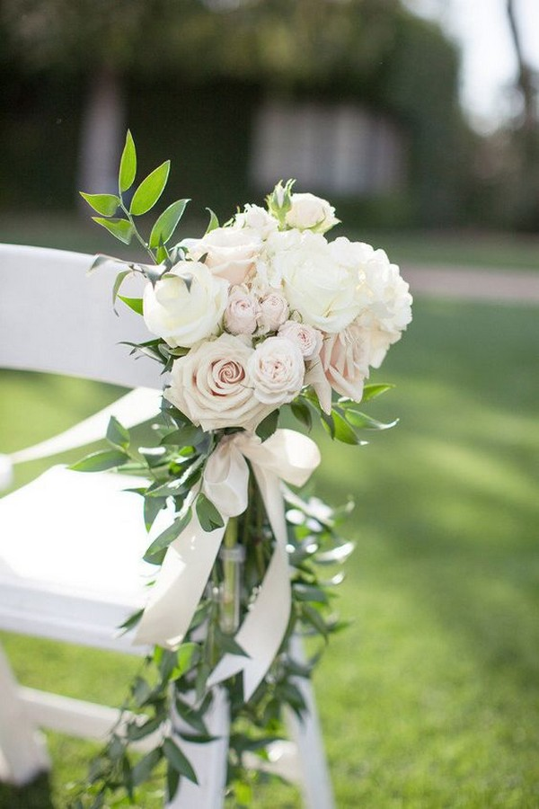 elegant outdoor wedding aisle decoration ideas
