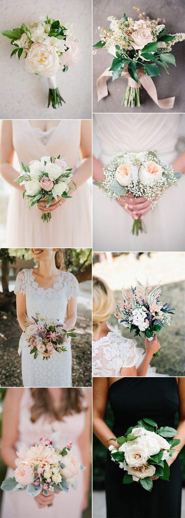 elegant shades of pink wedding bouquets for 2019