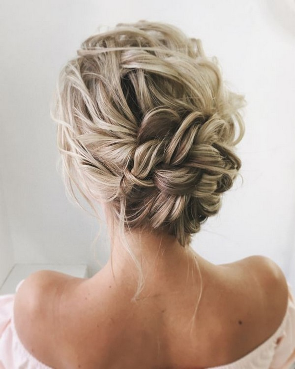 elegant updo wedding bridal hairstyle