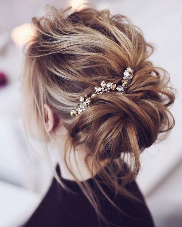 elegant updo wedding hairstyle