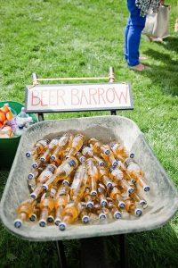 great beer bar for outdoor wedding ideas