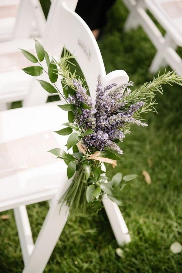 lavender outdoor wedding aisle decoration ideas