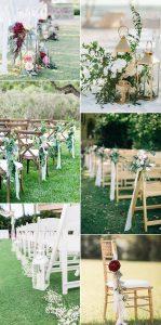 outdoor wedding aisle decoration ideas