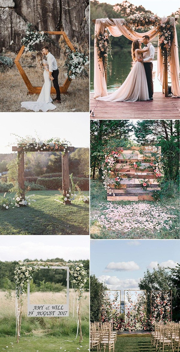 outdoor wedding arches and backdrops