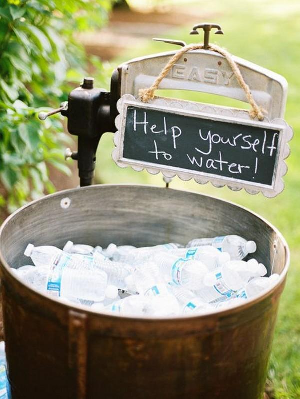 outdoor wedding drink serve ideas