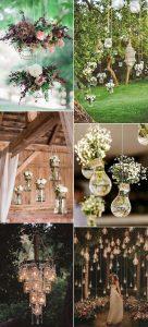 outdoor wedding hanging decoration ideas