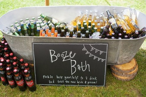 Outdoor Wedding Reception On A Budget Drink Stations