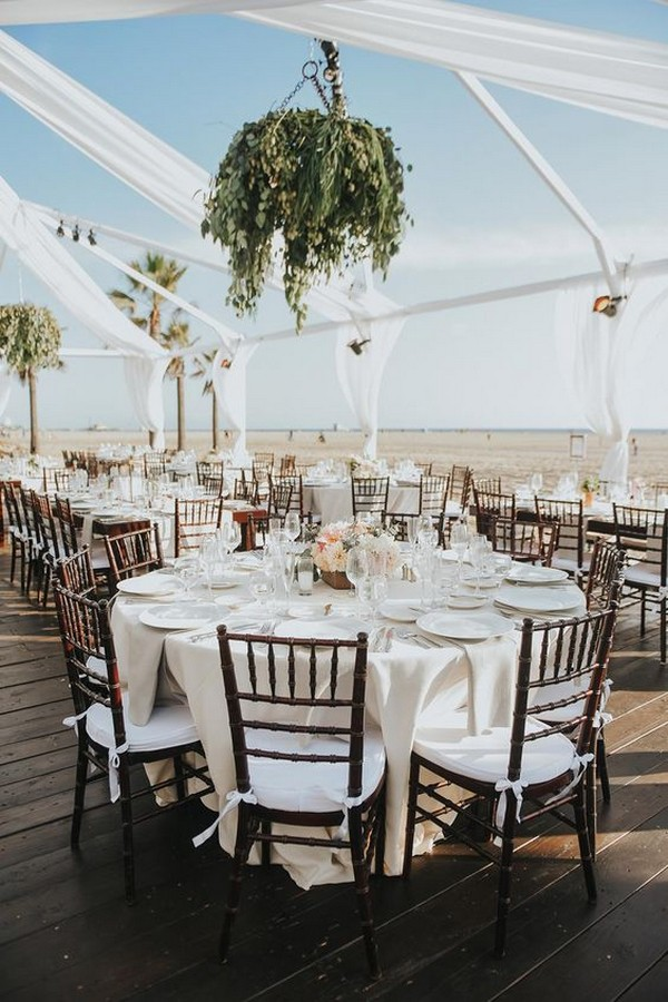 pretty beach wedding reception ideas