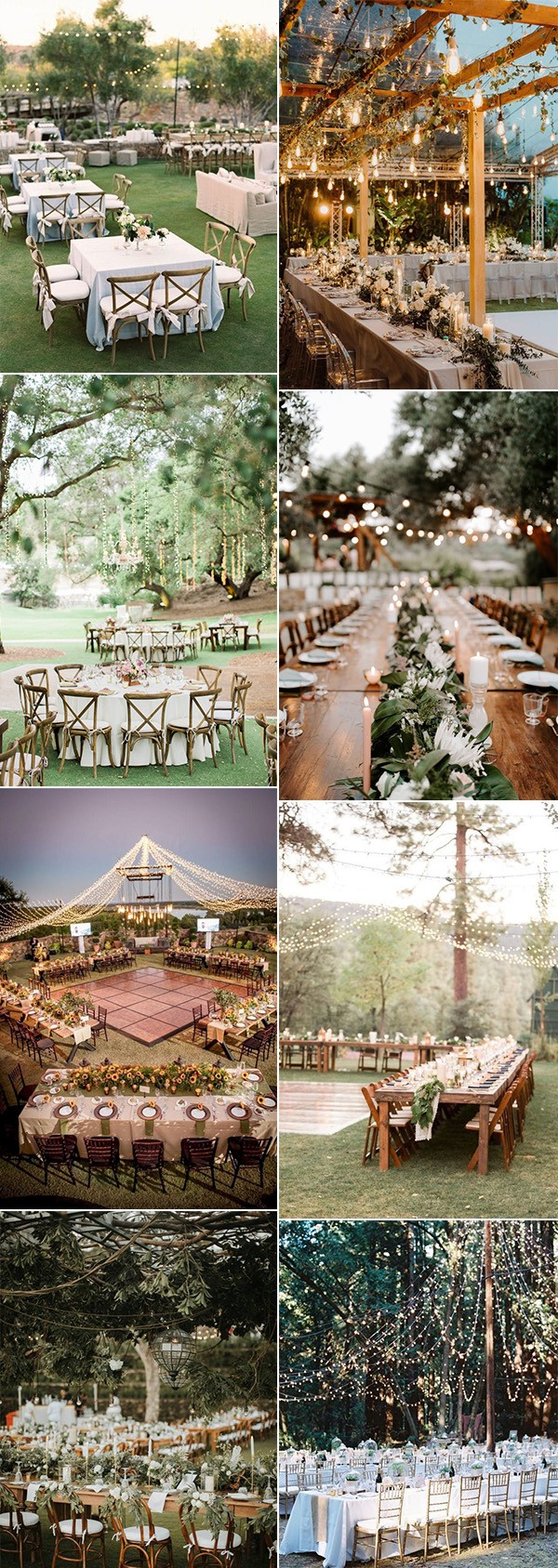 pretty outdoor wedding reception ideas