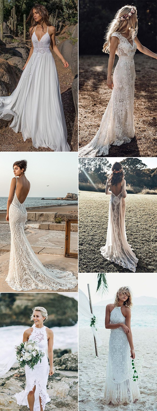 romantic beach wedding dresses