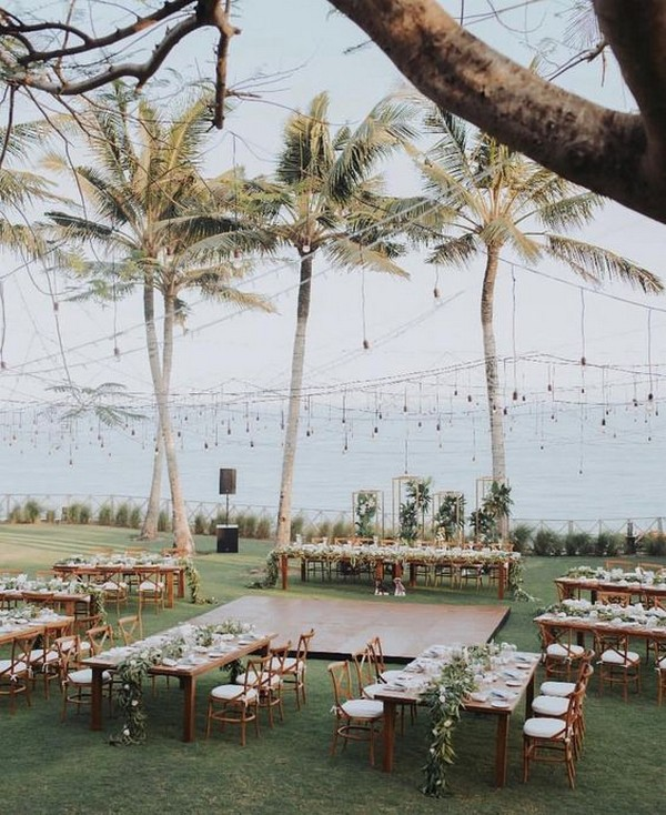 romantic beach wedding reception ideas