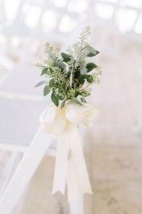 seeded eucalyptus wedding ceremony aisle ideas