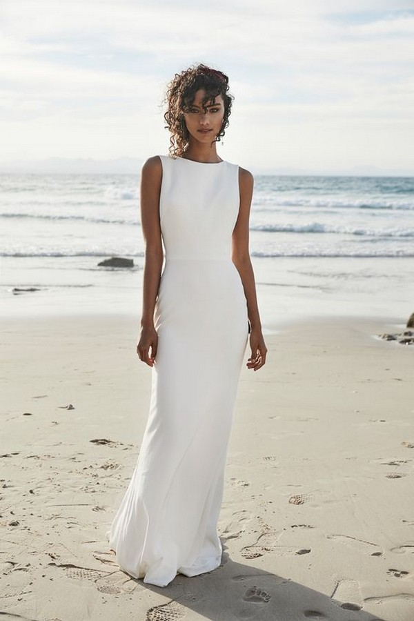 simple but elegant beach wedding dress
