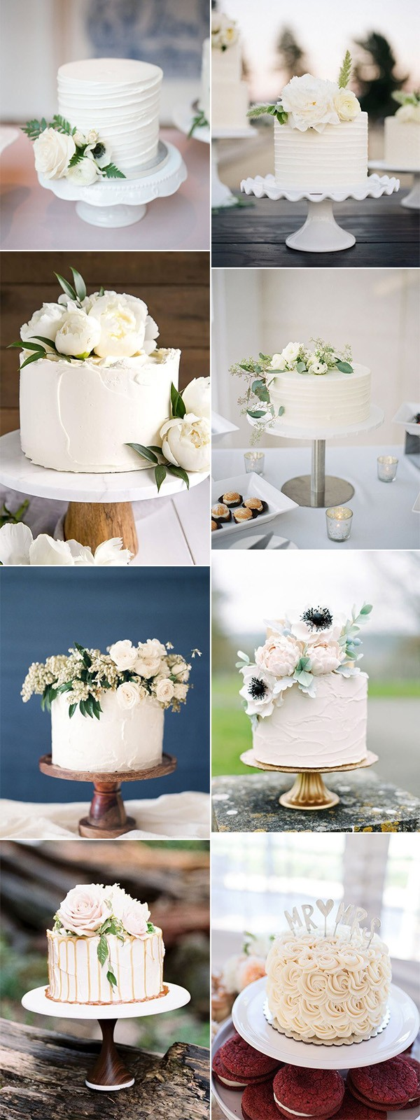 simple but elegant single tier wedding cakes