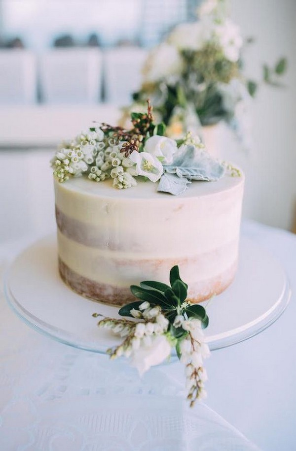 simple elegant one tier wedding cake