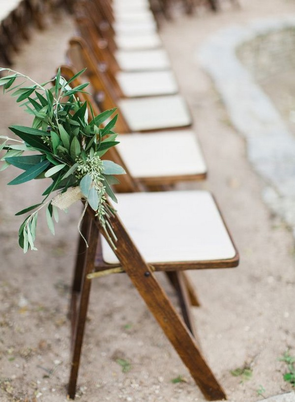 simple elegant outdoor wedding aisle ideas