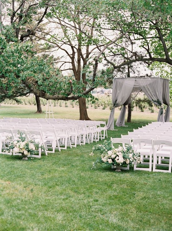 simple elegant outdoor wedding ceremony ideas