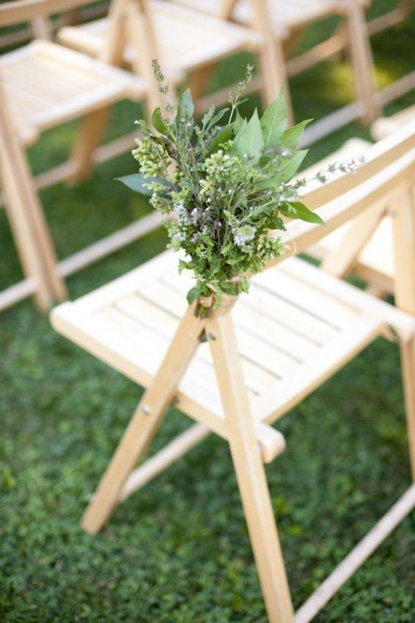 simple greenery wedding aisle decoration ideas