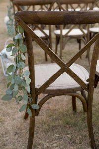 simple wedding aisle decoration ideas with eucalyptus