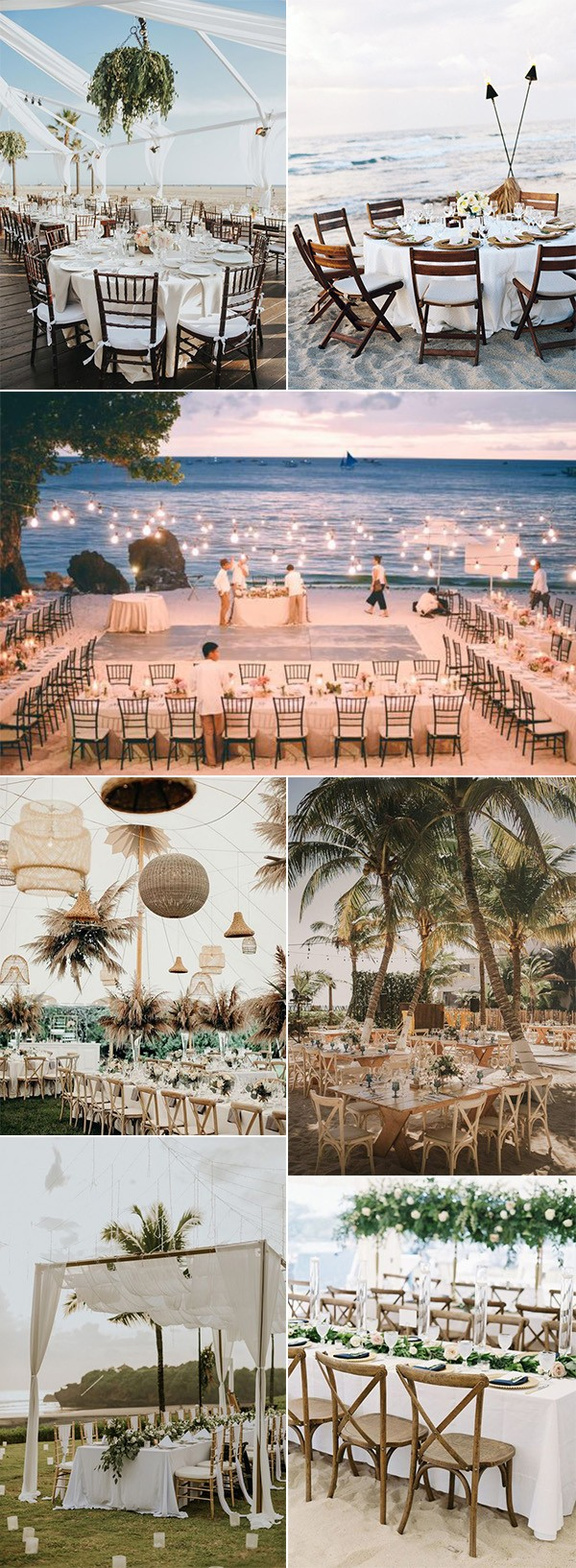 stunning beach side wedding reception ideas
