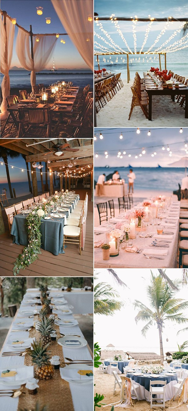 trending beach wedding reception ideas