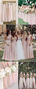 trending blush pink bridesmaid dresses